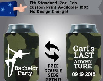 Carl's Last Adventure Collapsible Fabric Bachelor Party Can Cooler Double Side Print (Bach75)