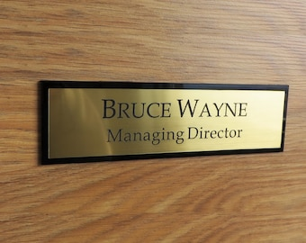 Executive Personalised Wall Name Plate, Custom Engraved Sign, Door Plaque, Office Sign.