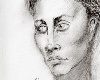 Woman's face - Pencil Drawing