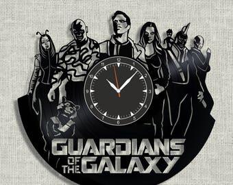 Guardians of the Galaxy vinyl record clock, Guardians of the Galaxy wall clock, Best Gift for Decor