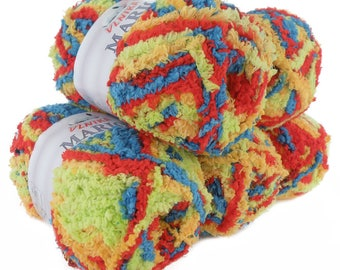 5 x 100 g soft Knitting yarn MARION with shimmering highlights, #114 confetti