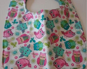 Baby Bib - Owls