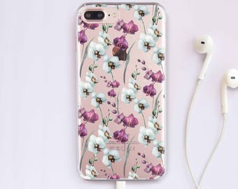 Flowers iPhone 7 Case Orchid Phone iPhone 6 Samsung S8 Plus Floral iPhone 5C Case iPhone 6 Plus Case For Samsung S6 Case iPhone SE  070