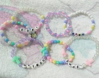 Custom Stretch Bracelets - Fairy Kei, Lolita, DD/LG and Pastel Goth