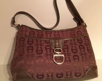 Aigner Sholder Bag / Etienne Aigner Handbag / Purse - Pocketbook - Tote / Signature Fabric