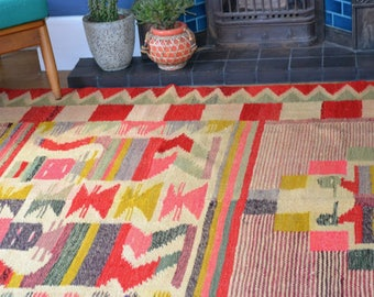 Vintage South American Kilim rug