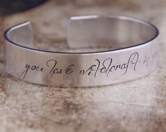 You Have Witchcraft In Your Lips / Literary Jewelry / Literary Bracelet / Shakespeare Jewelry / Shakespeare Bracelet / Romantic Jewelry