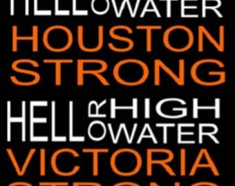 Hell or High Water car decal, texas strong, houston strong, hurricane harvey, car decals