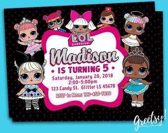 Lol Surprise Invitation, Lol Surprise Birthday, Lol Surprise Party, Lol Surprise Invite, Lol Surprise Printables, Lol Surprise, Lol Dolls