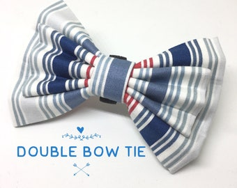 Stripey dog bow tie, bow ties for dogs, dog bow tie, dog bow, bow tie for girls, bow tie for boys, pet bow tie, pet bow, pet accessories