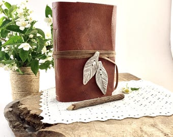 Rustic Leather Journal, Rustic Leather Notebook, Rustic Leather Diary, Unique Leather Diary, Unique Leather Journal, Leather Journal