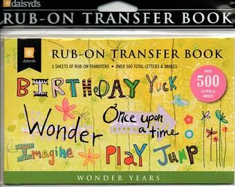 Wonder Years Boy Girl Rub on Transfer Book Scrapbooks Daisy D's  Embellishments Cardmaking Crafts