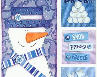Winter Snow Titles Tags Borders Bo Bunny  Cardstock Scrapbook Stickers Embellishments Card Making