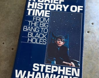 Vintage | A Brief History of Time By Stephen W. Hawking First Edition 1988