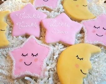 Twinkle twinkle little star Cookies One Dozen Party Favors
