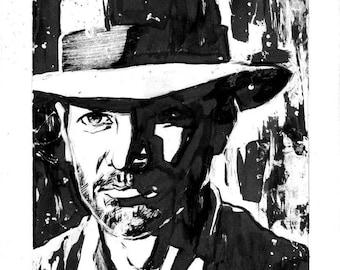ORIGINAL Indiana Jones 5.5x8.5 Illustration