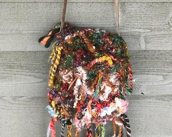 Bohemian crossbody purse OOAK