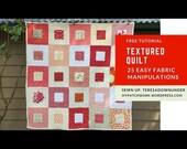Quilt pattern: Textured quilt - PDF download