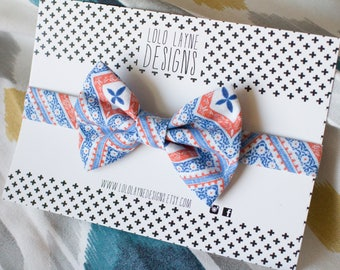 Orange and Blue Bowtie