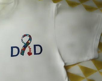 Autism awareness Dad T-shirt