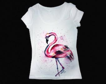 Flamingo shirt, Flamingo, Pink flamingo, Pink shirt, Watercolor shirt, Watercolor t shirt, Personalized shirts, Personalized tshirts