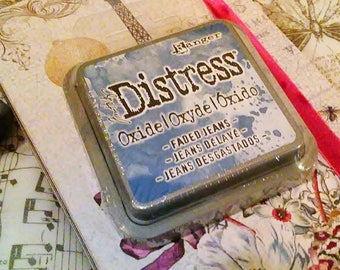 Tim Holtz Distress OXIDE INK by Ranger : Faded Jeans