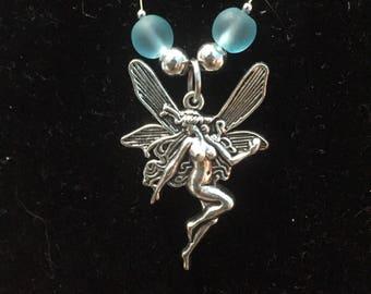 Light blue fairy pendant