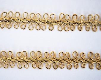 Narrow Gold Metallic Lace Braid