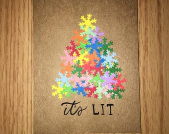 Its Lit Christmas Tree Cards