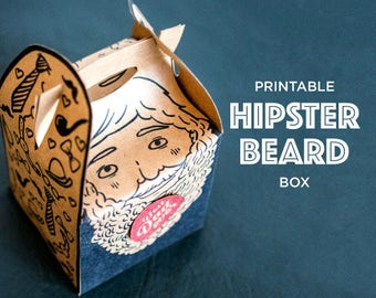 fathers day box, printable gift holders, dad boxes, hipster beard, wrapping fathers day, gift box, hipstee fathers day gift box, hipster dad