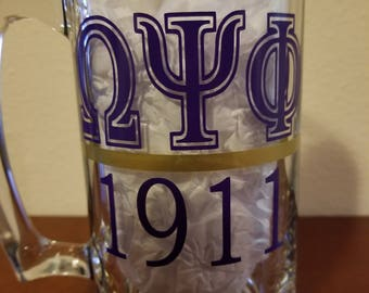 Omega Psi Phi Vinyl Decal