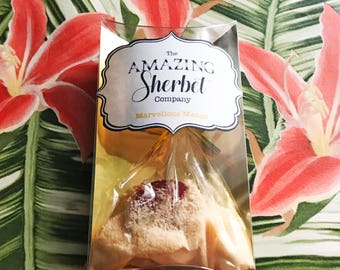 Mango Sherbet with Lollipop
