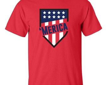 American Flag Shield, 4th of July Gift, Patriotic  Shirt,  American Shirt
