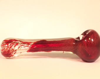 Dragons blood Red glass smoking pipe