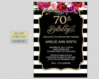 Th Birthday Invite Etsy - Birthday invitation images download