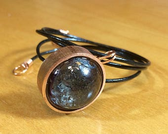 Resin and Copper Pipe Pendant Necklace