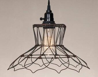 Plug-in Pendant Lamp Kit - Vintage Flower