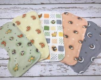 woodland Burp cloth organic Boy Burp cloth woodland baby shower deer burp cloth fox burp cloth Baby boy shower gift hedgehog burp cloths