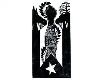 Bandera Puerto Rico Flag Art- Lares Flag- Puerto Rican Gifts- Puerto Rican Art- Puerto Rican Parade- Puerto Rican Flag El Grito de Lares