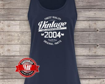Vintage 2004, 14th birthday, 14th birthday gifts for men, 14th birthday gift, 14th Birthday Tank Top, gift for 14th , Tank Top
