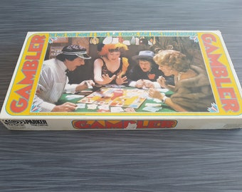 Vintage 1975 Gamble Game by Parker Brothers Retro Board Game Night The pays your money & takes your chances game