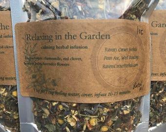 Relaxing in the Garden-Calming Herbal Infusion