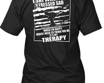 I Ski When I'm Stressed Sad T Shirt, I Love Skiing T Shirt