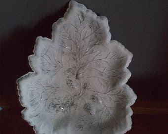 small dish or weathered white tray