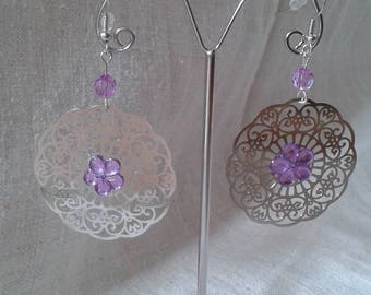 "Earrings ""Silver floral charm"""