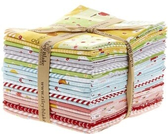 Sweet Orchard Fat Quarter Bundle by Sedef Imer of Grapevine Lane for Riley Blake, Sweet Orchard Fabric, 21 Fat Quarters