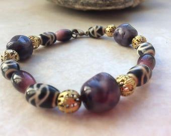 Ethnic unique glass beaded bracelet