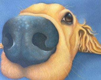 """golden labrador retriever painting """"Honey"""""""