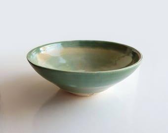 Seagreen stoneware bowl