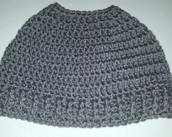 Gray Messy bun hat (Ready to Ship)